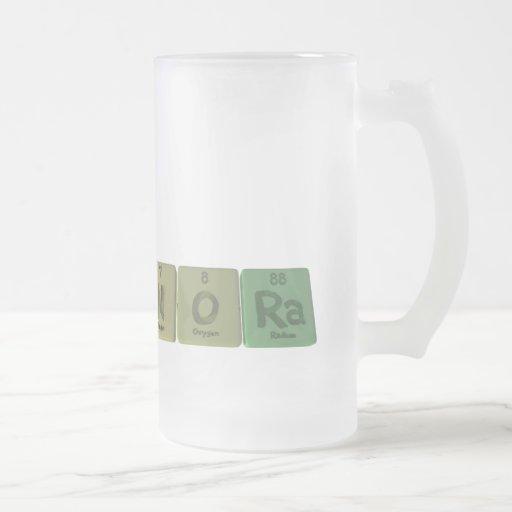 Nora como radio del oxígeno del nitrógeno taza de café