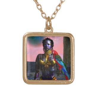 NORA CYBER WARRIOR GOLD PLATED NECKLACE