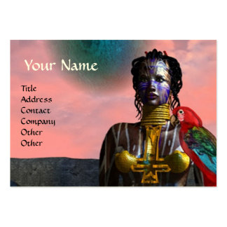 NORA CYBER WARRIOR ,pink,red ,gold yellow Large Business Card