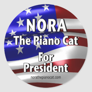Nora For President #2 Classic Round Sticker