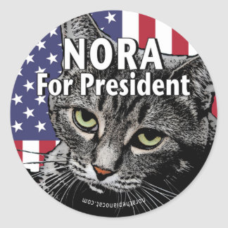Nora For President #7 Classic Round Sticker