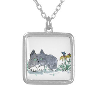 Nora, Gray Tiger, Encounters a Blue Butterfly Necklaces