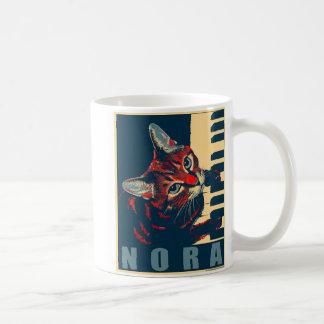 Nora The Piano Cat - Posterized Coffee Mug