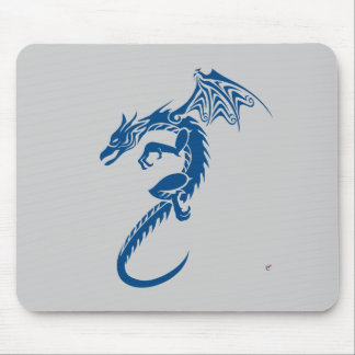 Norbert the Blue Dragon Mouse Pad