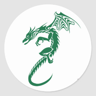 Norbert the Green Dragon Classic Round Sticker