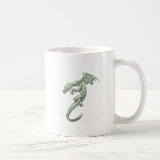 Norbert the Metallic Green Dragon Coffee Mug