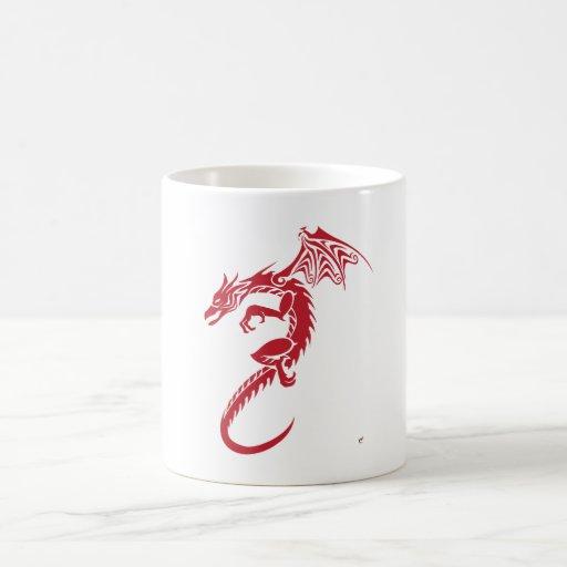Norbert the Red Dragon Coffee Mugs