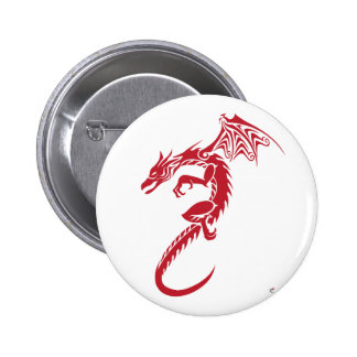 Norbert the Red Dragon Pinback Buttons