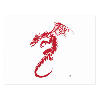 Norbert the Red Dragon Postcard