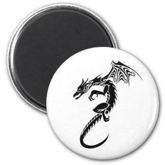 Norberto el dragón negro imán redondo 5 cm