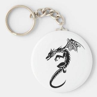 Norberto el dragón negro llavero redondo tipo pin