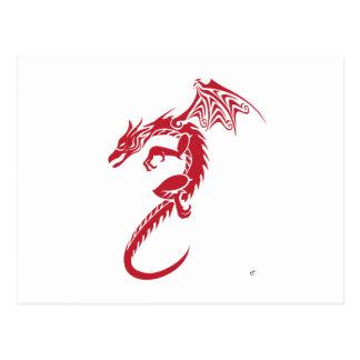 Norberto el dragón rojo postal
