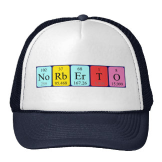 Norberto periodic table name hat