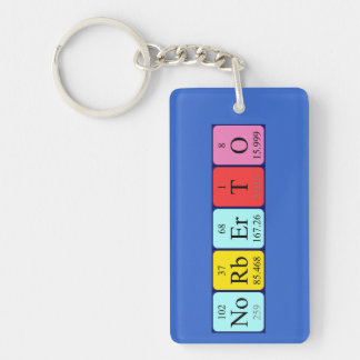 Norberto periodic table name keyring keychain