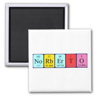 Norberto periodic table name magnet