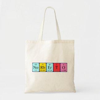Norberto periodic table name tote bag