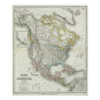 Nord América - Norteamérica Poster