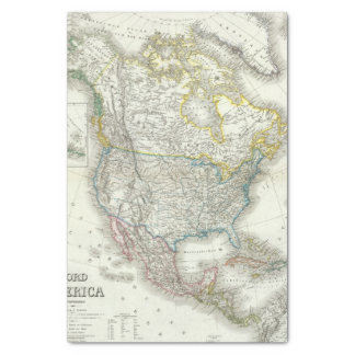 Nord América - Norteamérica Papel De Seda Pequeño