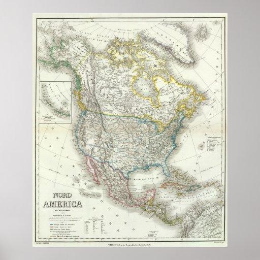 Nord América - Norteamérica Póster