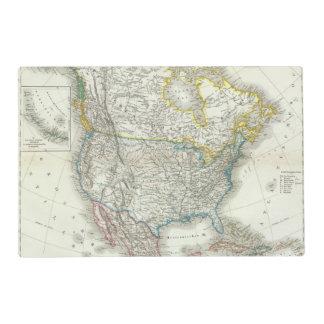 Nord América - Norteamérica Tapete Individual