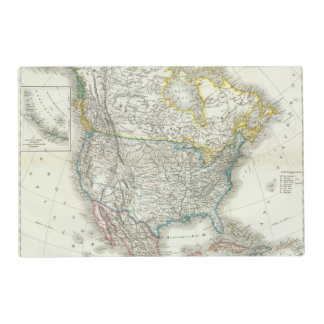 Nord America - North America Laminated Placemat