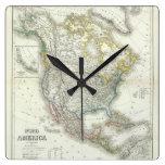 Nord América Reloj Cuadrado