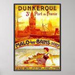 Nord-Pas-de-Calais del vintage, Dunkerque, Francia Impresiones