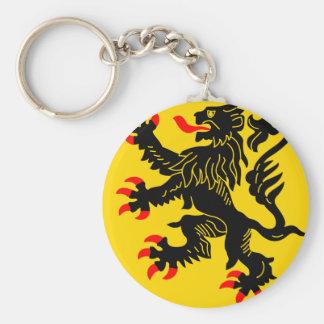Nord-Pas-De-Calais, France Basic Round Button Keychain