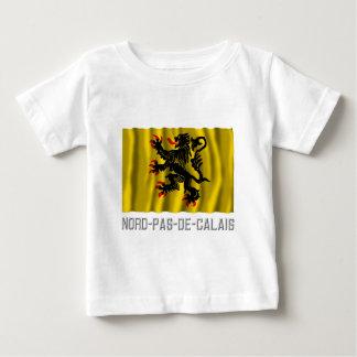 Nord-Pas-de-Calais que agita la bandera con nombre Playera De Bebé