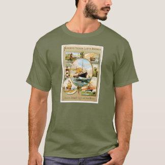 Norddeutscher Lloyd Bremen Vintage Travel Poster T-Shirt