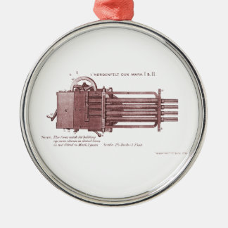 Nordenfelt Minigun Metal Ornament