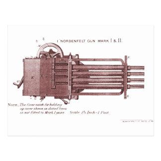 Nordenfelt Minigun Tarjeta Postal