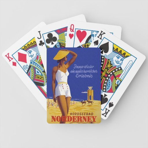 Norderney Germany Vintage Travel Playing Cards