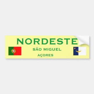 Nordeste* Azores Bumper Sticker
