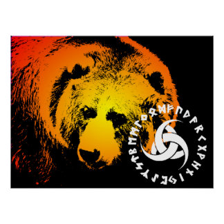 Nordic Bear Poster