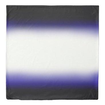 Beach Themed Nordic Blue Black|Blue|White Duvet Cover