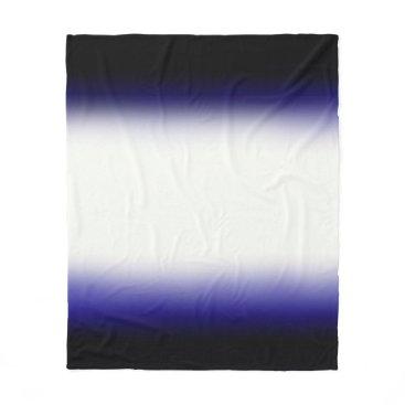 Beach Themed Nordic Blue Black|Blue|White Fleece Blanket