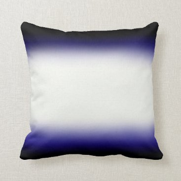 Beach Themed Nordic Blue Black|Blue|White Throw Pillow