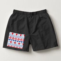 Nordic Christmas in Red & Blue Boxers