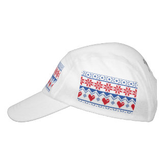 Nordic Christmas in Red & Blue Headsweats Hat