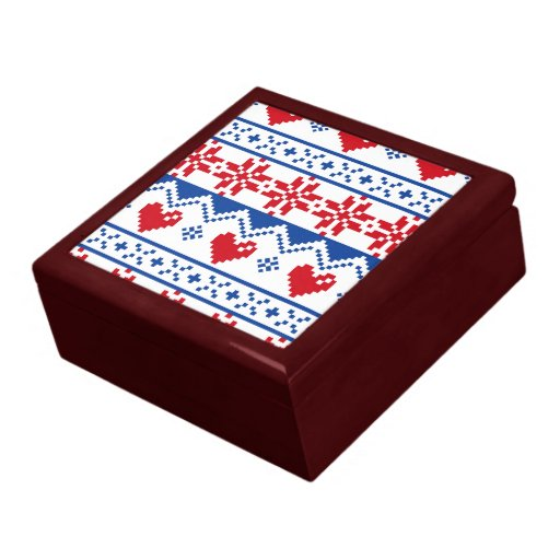 Nordic Christmas in Red & Blue Gift Box