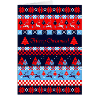 Nordic christmas pattern & custom text card