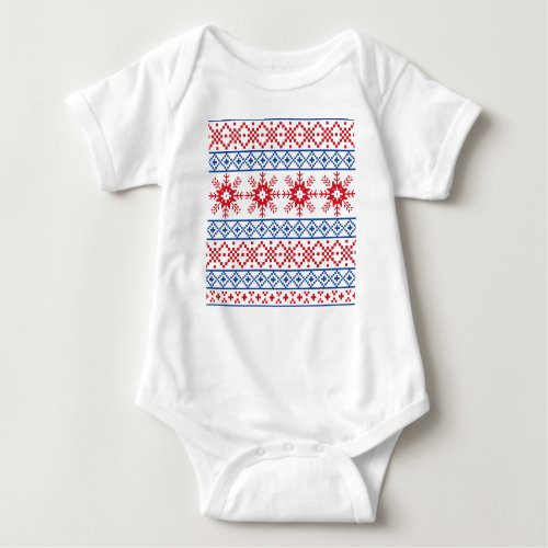 Nordic Christmas Snowflake Borders Baby