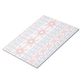 Nordic Christmas Snowflake Borders Notepad