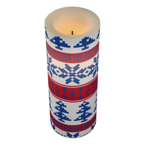 Nordic Christmas Trees Flameless Candle