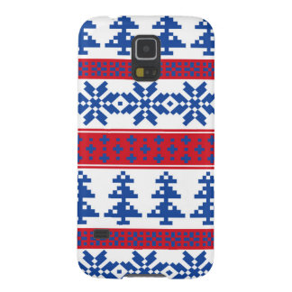 Nordic Christmas Trees Galaxy S5 Case
