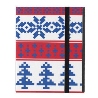 Nordic Christmas Trees iPad Cover