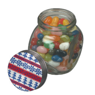 Nordic Christmas Trees Jelly Belly Candy Jar