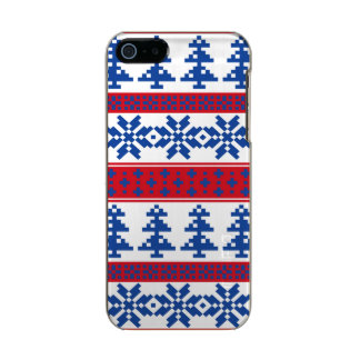 Nordic Christmas Trees Metallic iPhone SE/5/5s Case