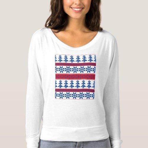 Nordic Christmas Trees T-shirt After Christmas Sales 5131
